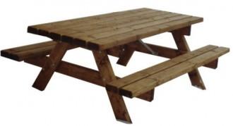 Ensemble table pique-nique Plateau 75 x 74 cm - Devis sur Techni-Contact.com - 1