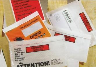 Enveloppe porte-documents adhésive - Devis sur Techni-Contact.com - 1