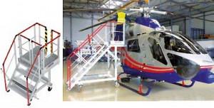 Escabeau de maintenance hélicoptère - Devis sur Techni-Contact.com - 1