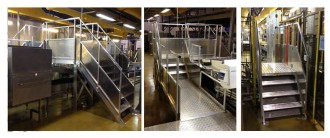 Escalier à palier double accès pour passage de convoyeur - Devis sur Techni-Contact.com - 1