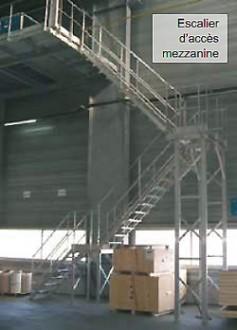 Escalier alu droit d'accès mezzanine - Devis sur Techni-Contact.com - 1