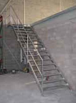 Escalier alu droit d'accès mezzanine - Devis sur Techni-Contact.com - 2