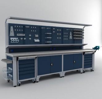 Établi armoire complet professionnel 3700 mm - Devis sur Techni-Contact.com - 1