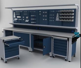 Établi armoire complet professionnel 3700 mm - Devis sur Techni-Contact.com - 2