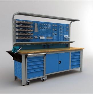 Établi d'atelier modulaire avec desserte - Devis sur Techni-Contact.com - 2