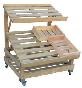 Étal marché bois 2 niveaux orientables - Devis sur Techni-Contact.com - 3