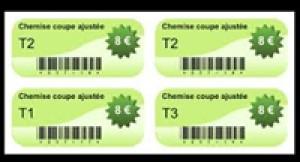 Étiquette adhésive rayonnage - Devis sur Techni-Contact.com - 1