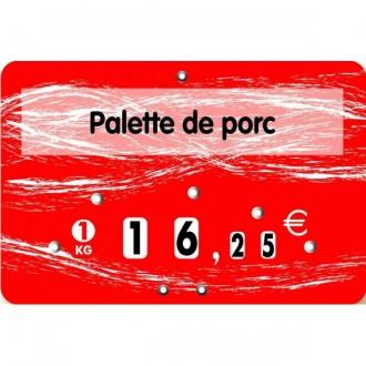 Etiquette boucherie palette de porc - Devis sur Techni-Contact.com - 2