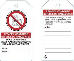 Étiquette de consignation - Devis sur Techni-Contact.com - 1