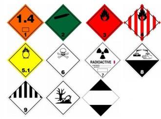 Étiquette de danger ADR - Devis sur Techni-Contact.com - 1