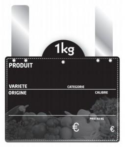 Étiquette grandes pattes pour fruits et légumes - Devis sur Techni-Contact.com - 1