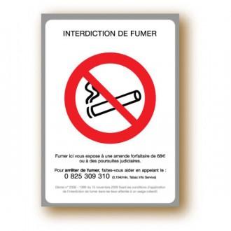 Etiquette pancarte adhésive interdiction de fumer - Devis sur Techni-Contact.com - 1