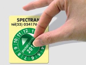Etiquette Pastille calendrier acétate Destruct - Devis sur Techni-Contact.com - 1