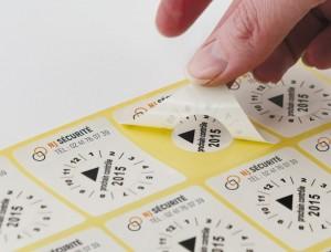 Etiquette Pastille calendrier acétate Destruct - Devis sur Techni-Contact.com - 2
