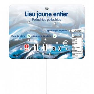 Etiquette pique prix poissonnerie - Devis sur Techni-Contact.com - 2