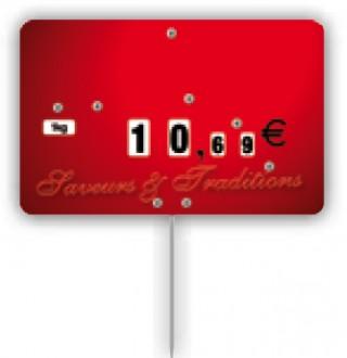 Étiquette pique-prix rouge - Devis sur Techni-Contact.com - 1