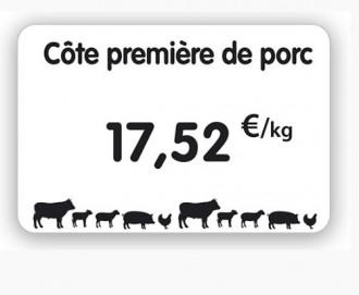 Étiquette pour boucherie blanche - Devis sur Techni-Contact.com - 1
