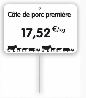Étiquette pour boucherie blanche - Devis sur Techni-Contact.com - 3