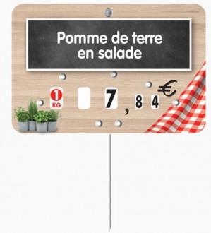 Étiquette pour boucherie en pvc cristal - Devis sur Techni-Contact.com - 1