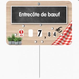 Étiquette pour boucherie en pvc cristal - Devis sur Techni-Contact.com - 3