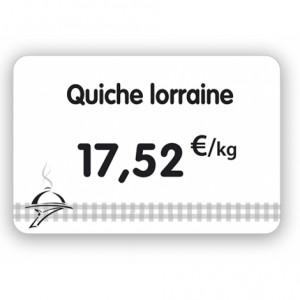 Étiquette pour charcuteries blanche - Devis sur Techni-Contact.com - 3
