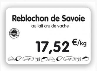 Étiquette pour fromageries crèmeries blanche - Devis sur Techni-Contact.com - 1