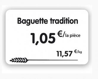 Étiquette pour pâtisserie blanche - Devis sur Techni-Contact.com - 3