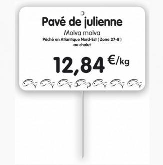 Étiquette pour poissonneries blanche - Devis sur Techni-Contact.com - 1