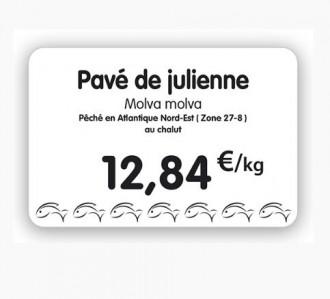 Étiquette pour poissonneries blanche - Devis sur Techni-Contact.com - 3