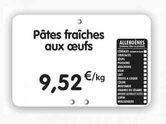 Étiquette pour tous commerces allergènes blanche - Devis sur Techni-Contact.com - 1