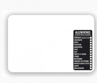 Étiquette pour tous commerces allergènes blanche - Devis sur Techni-Contact.com - 2