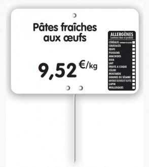 Étiquette pour tous commerces allergènes blanche - Devis sur Techni-Contact.com - 3