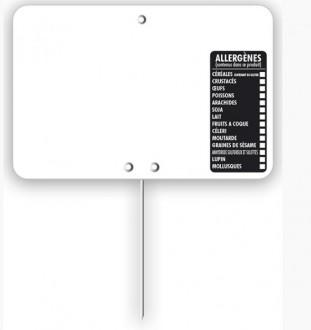 Étiquette pour tous commerces allergènes blanche - Devis sur Techni-Contact.com - 4