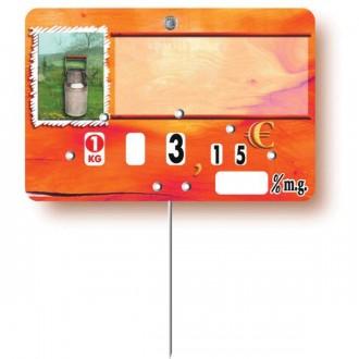 Etiquette prix pour crémerie - Devis sur Techni-Contact.com - 1