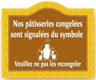 Etiquette signalétique congélation pâtisserie - Devis sur Techni-Contact.com - 2