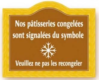 Etiquette signalétique congélation pâtisserie - Devis sur Techni-Contact.com - 3
