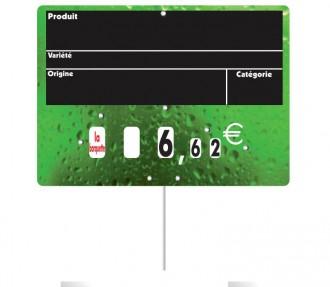 Etiquettes affichage prix fruits et légumes - Devis sur Techni-Contact.com - 2