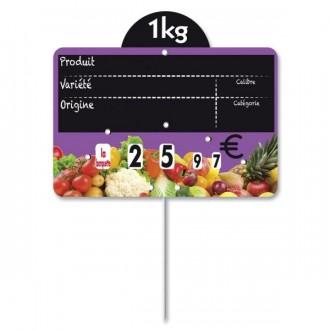 Étiquettes pour fruits et légumes à pique inox - Devis sur Techni-Contact.com - 1