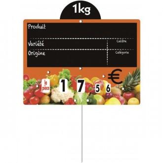 Étiquettes pour fruits et légumes à pique inox - Devis sur Techni-Contact.com - 3
