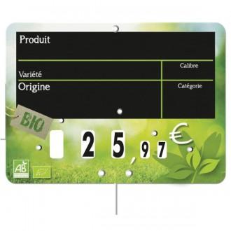 Etiquettes prix fruits et légumes Bio - Devis sur Techni-Contact.com - 2