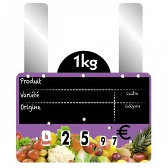 Etiquettes prix fruits et légumes à grandes pattes - Devis sur Techni-Contact.com - 1