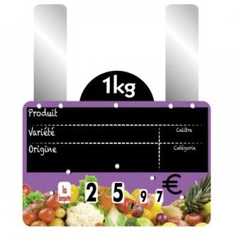 Etiquettes prix fruits et légumes à grandes pattes - Devis sur Techni-Contact.com - 3