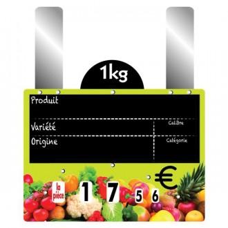 Etiquettes prix fruits et légumes à grandes pattes - Devis sur Techni-Contact.com - 5