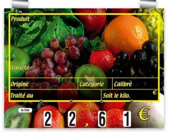 Etiquettes prix pour fruits - Devis sur Techni-Contact.com - 1