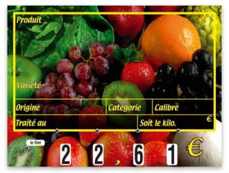 Etiquettes prix pour fruits - Devis sur Techni-Contact.com - 2
