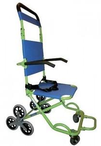 Chaise d'évacuation 3 roues et portoir 4 roues - Devis sur Techni-Contact.com - 1