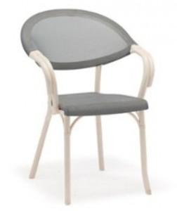 Fauteuil bistrot en imitation rotin et textiléne - Devis sur Techni-Contact.com - 5