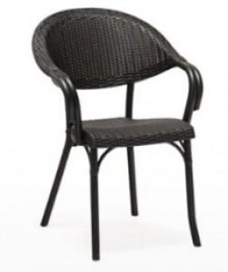 Fauteuil bistrot en imitation rotin et textiléne - Devis sur Techni-Contact.com - 6