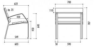Fauteuil en bois et fonte - Devis sur Techni-Contact.com - 2