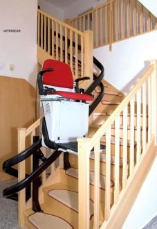 Fauteuil monte-escalier courbe - Devis sur Techni-Contact.com - 2